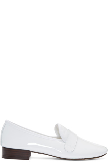 Repetto - White Patent Leather Michael Loafers