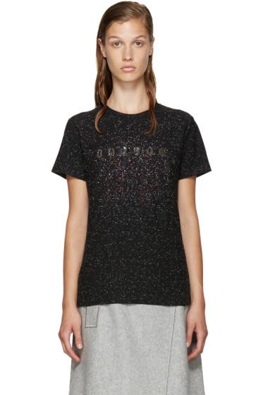 Carven - Black Speckled Logo T-Shirt