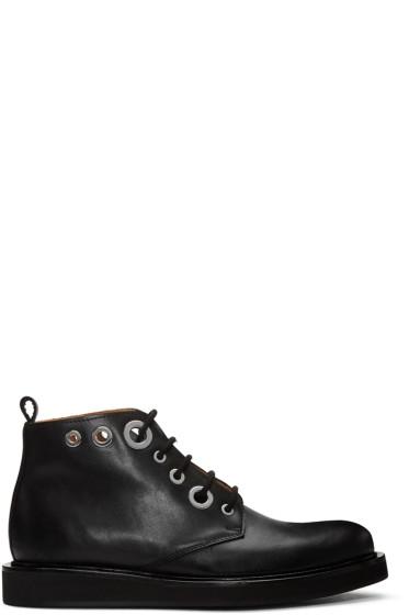 Carven - Black Eyelet Boots