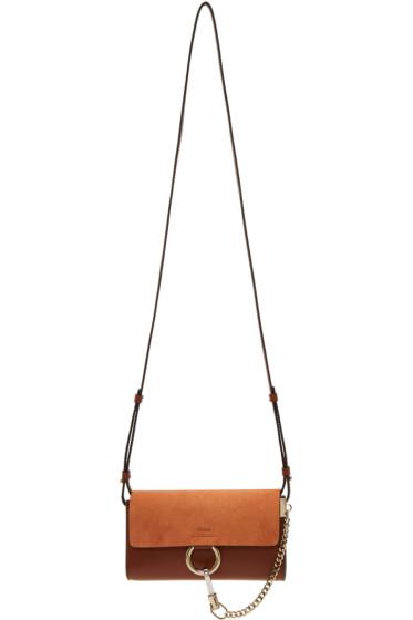 Chloé - Brown Faye Chain Wallet Bag