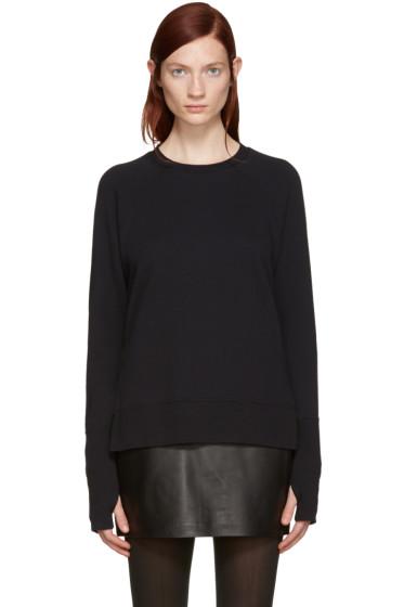 BLK DNM - Black Raglan Pullover