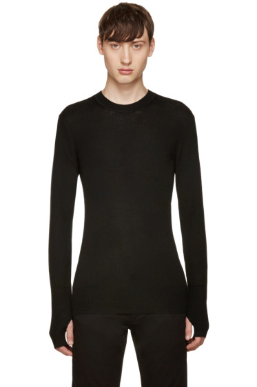 BLK DNM - Black Ribbed 37 Pullover