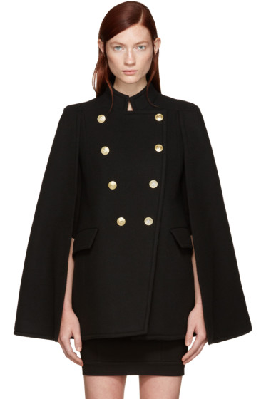 Pierre Balmain - Black Gold Buttons Cape