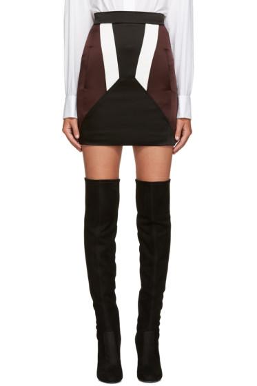 Neil Barrett - Black Colorblocked Miniskirt