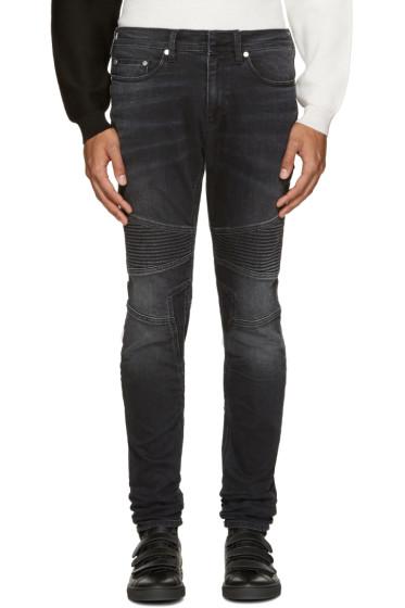 Neil Barrett - Grey Biker Jeans