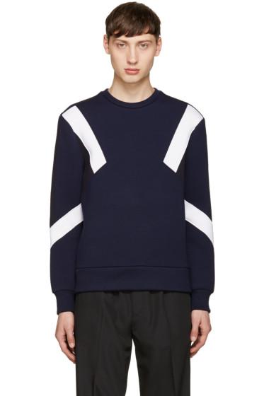 Neil Barrett - Navy Retro Modernist Pullover