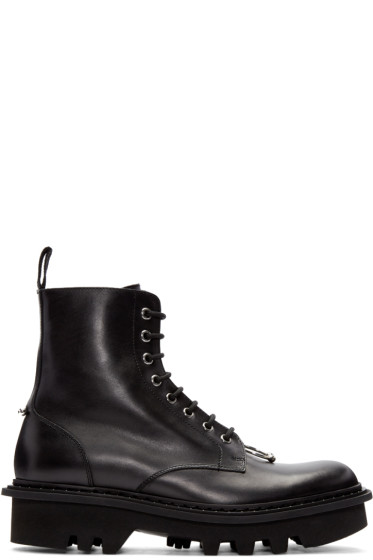 Neil Barrett - Black Pierced Punk Boots