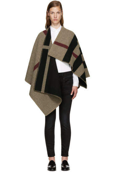 Burberry - Tricolor Mega Check Cape