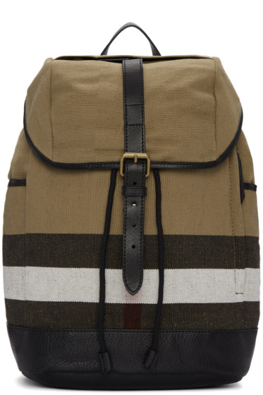 Burberry - Beige Drifton Check Backpack
