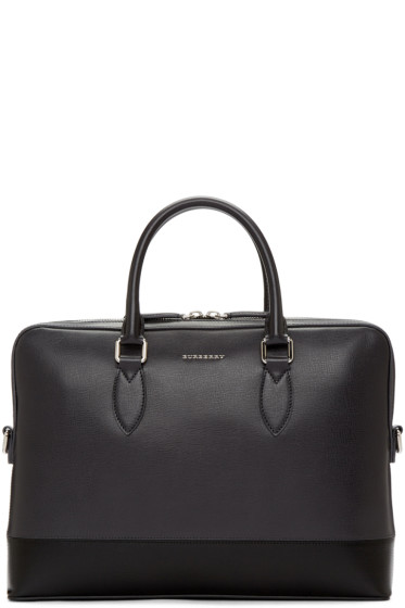 Burberry - Grey The Barrow Briefcase