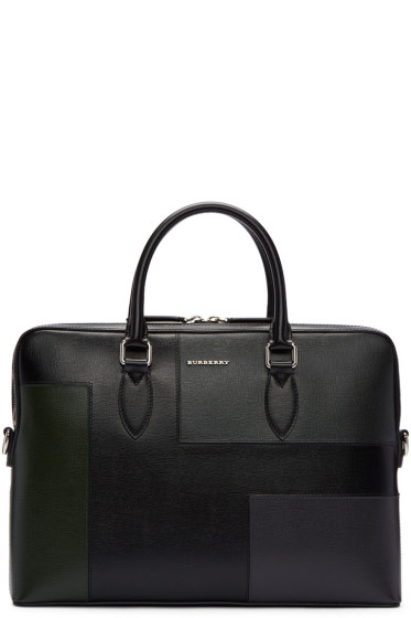Burberry - Black Barrow Patchwork Briefcase
