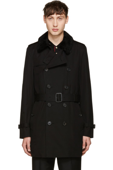 Burberry - Black Kensington Trench Coat