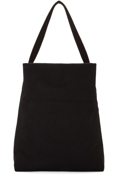 Ann Demeulemeester - Black Canvas Brusco Bag