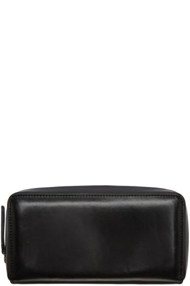 Ann Demeulemeester - Black Leather Zip Wallet