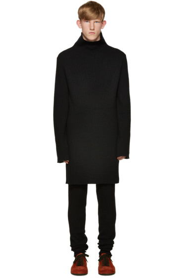 Ann Demeulemeester - Black Knit Turtleneck