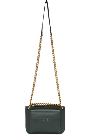 Marni - Green & Navy Bandoleer Bag