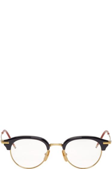 Thom Browne - Navy & Gold TB-706 Glasses