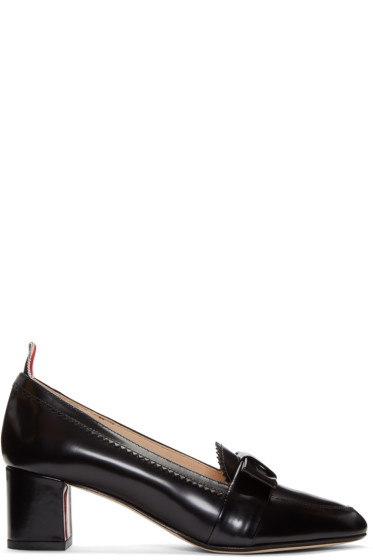 Thom Browne - Black Bow Loafer Heels