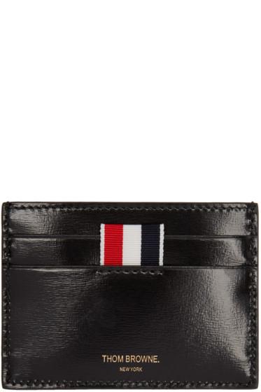 Thom Browne - Black Patent Leather Card Holder