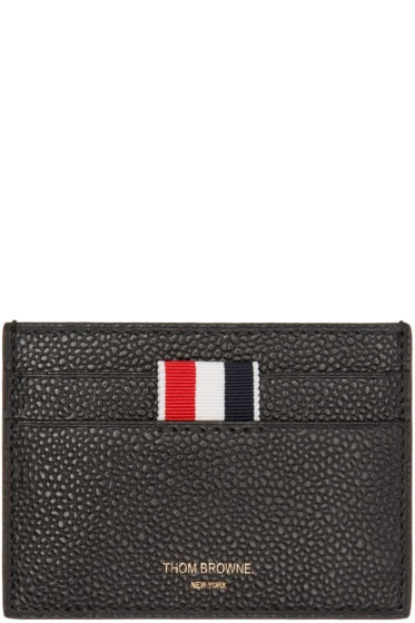 Thom Browne - Black Leather Card Holder