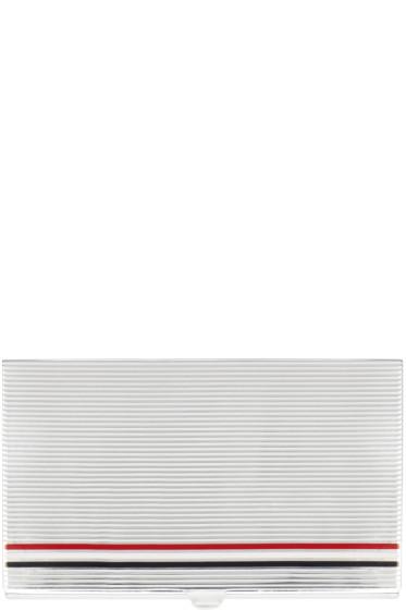Thom Browne - Silver Striped Card Case
