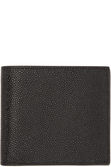 Thom Browne - Black Leather Wallet