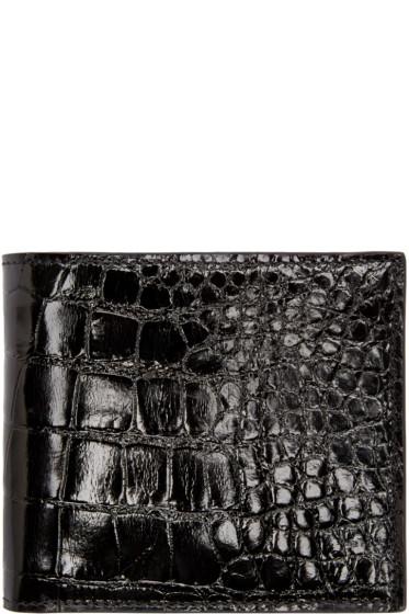 Thom Browne - Black Alligator Wallet
