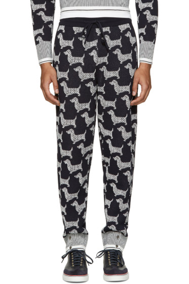 Thom Browne - Navy Hector Browne Lounge Pants