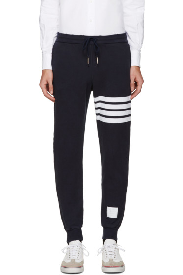 Thom Browne - Navy Cropped Lounge Pants
