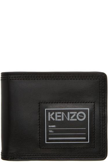 Kenzo - Black Leather ID Wallet