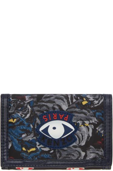 Kenzo - Grey Signature Prints Wallet