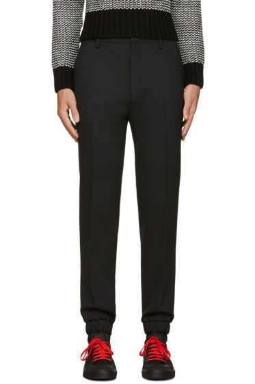 Kenzo - Black Slim Wool Trousers