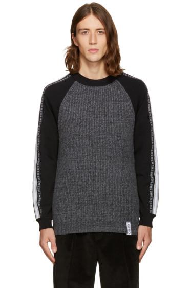 Kenzo - Grey Contrast Sleeve Sweater