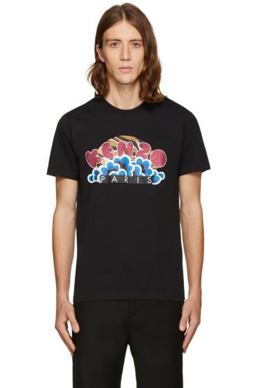 Kenzo - Black Popcorn Logo T-Shirt
