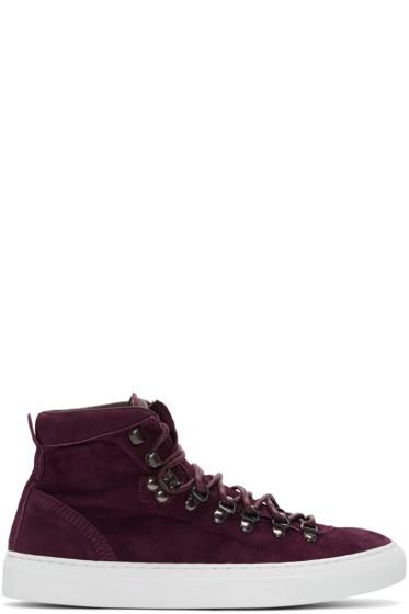 Diemme - Burgundy Suede Marostica Mid-Top Sneakers