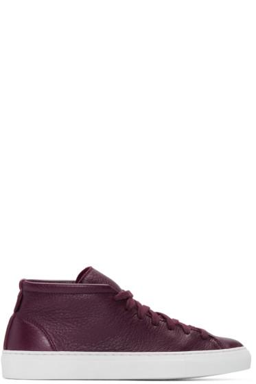 Diemme - Burgundy Deerskin Loria Sneakers