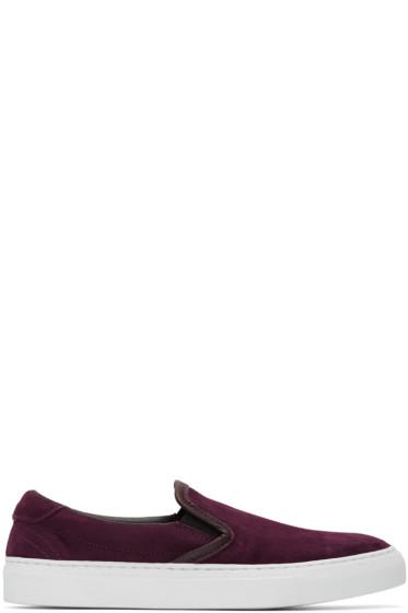 Diemme - Burgundy Suede Garda Slip-On Sneakers