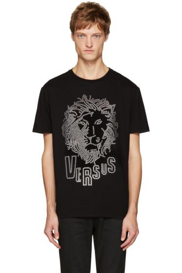 Versus - Black Eyelet Lion T-Shirt