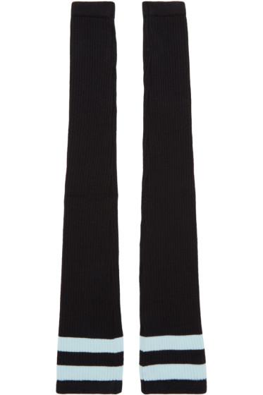 Versace - Black Athletic Fingerless Gloves