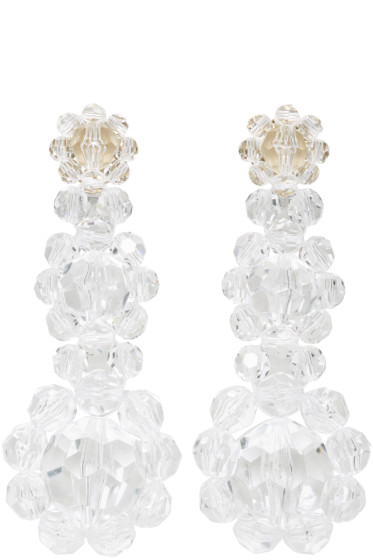 Simone Rocha - Transparent Floral Beaded Earrings