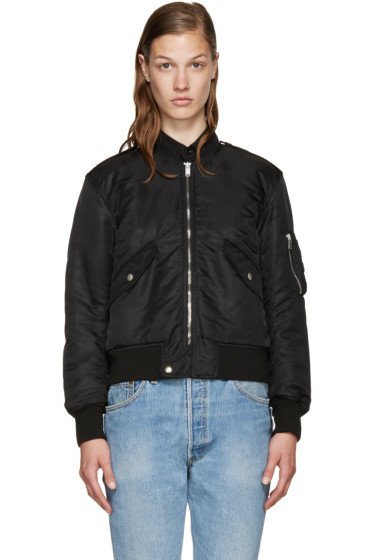 Saint Laurent - Black Nylon Bomber Jacket