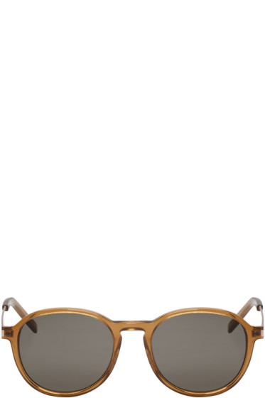 Saint Laurent - Brown Panthos SL 110 Sunglasses