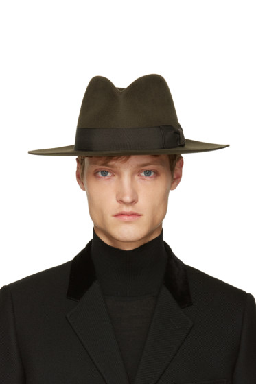 Saint Laurent - Brown Felt Fedora