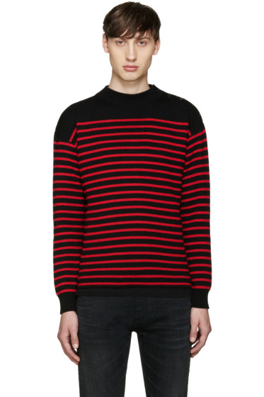 Saint Laurent - Black & Red Striped Sweater