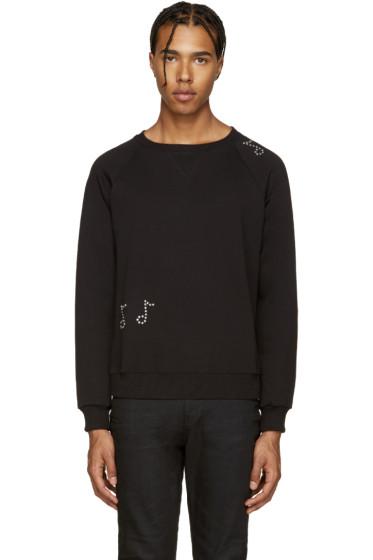 Saint Laurent - Black Crystal Embellished Sweatshirt
