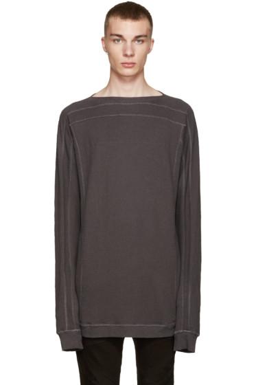Julius - Grey Cotton & Wool Pullover