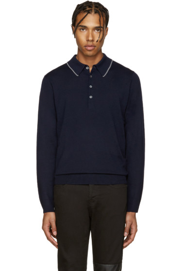 PS by Paul Smith - Navy Merino Wool Polo