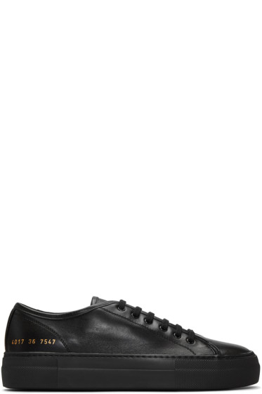 Woman by Common Projects - Black Tournament Low Super Sneakers