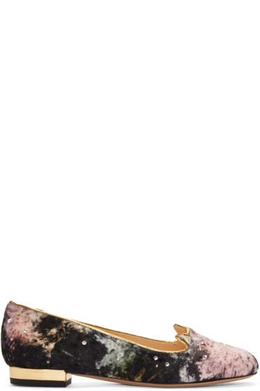 Charlotte Olympia - Multicolor Velvet Galaxi Kitty Flats