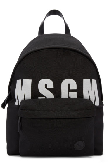 MSGM - Black Logo Backpack